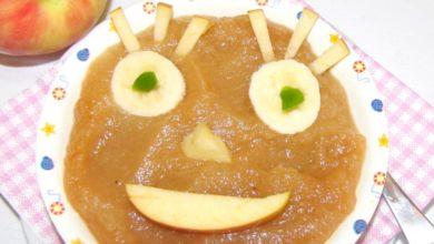 Apfelmus Gesicht