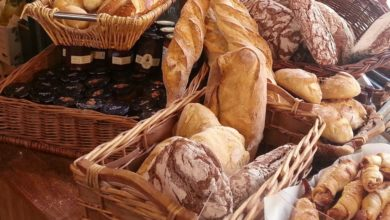 Brot Weissbrot und Brötchen