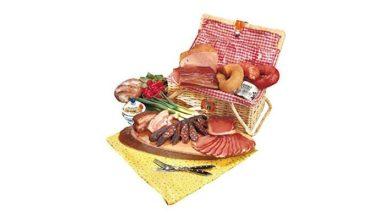 Picknickkorb mit bayerischen Spezialitäten