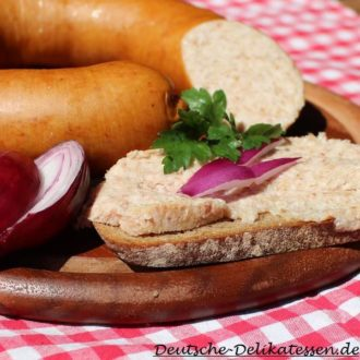 Hamburger gekochte Wurst aufs Brot