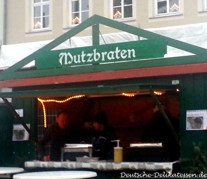 Weihnachtsstand Mutzbraten
