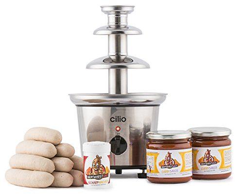 Currywurstbrunnen Set mit Wurst und Sauce