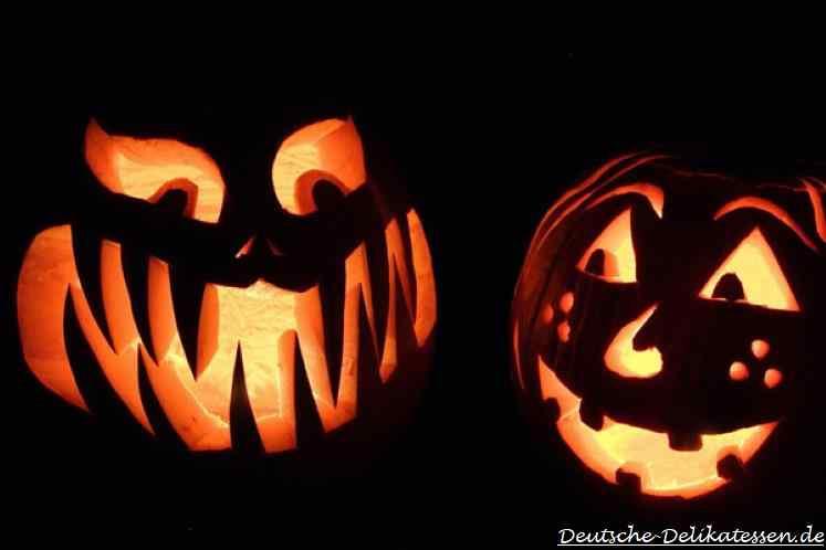 Halloween Kürbis leuchtet