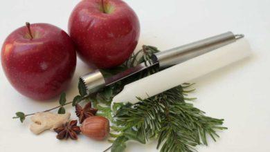 Einfache Weihnachtsdeko mit Äpfeln