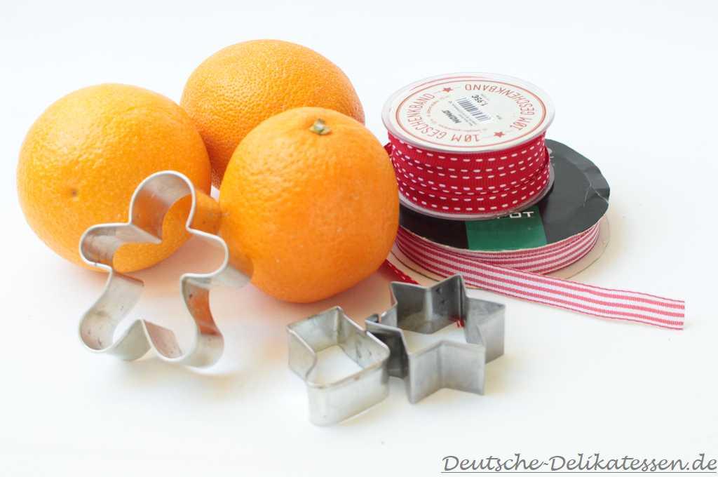 Einfache Weihnachtsdeko mit Apfelsinen