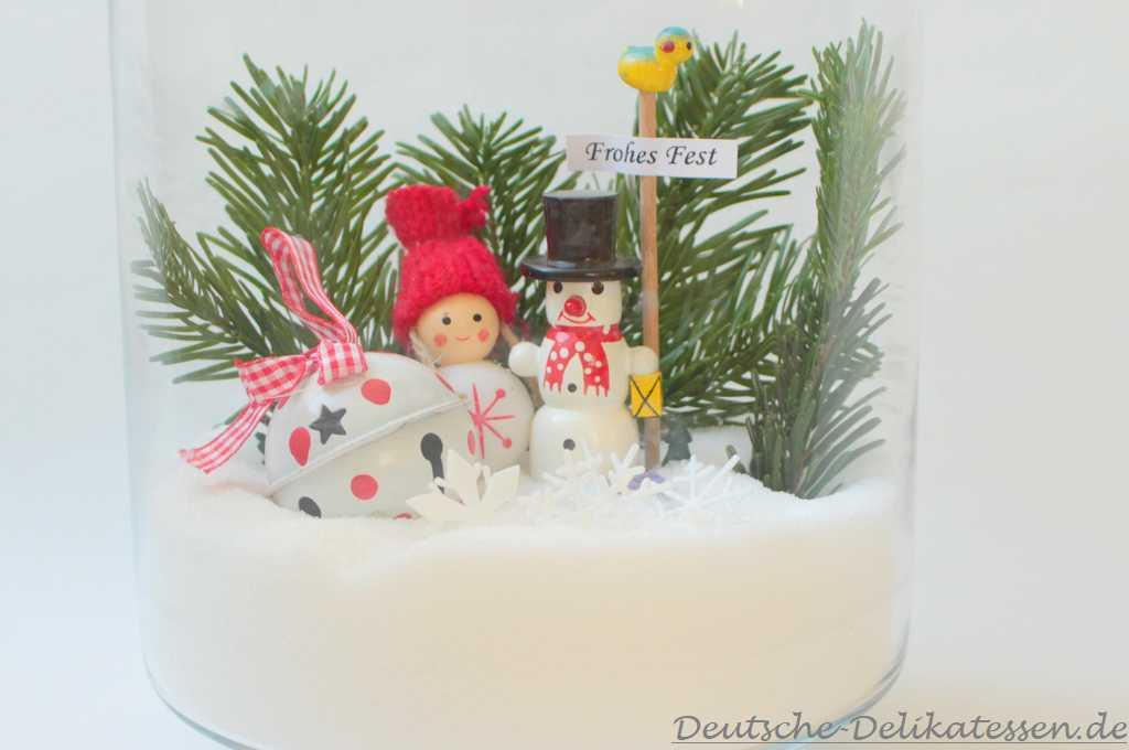 Einfache Weihnachtsdeko mit Zucker