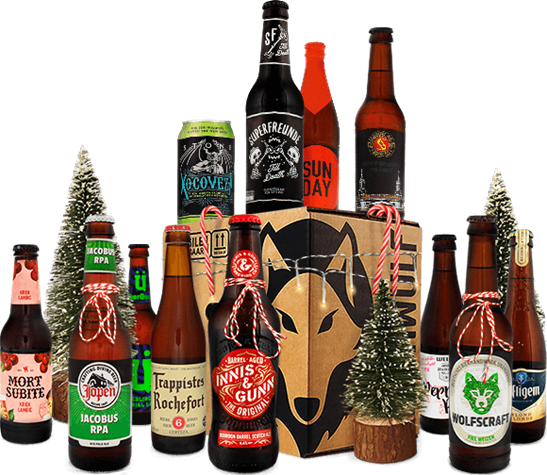 Geschenkpaket mit 12 verschiedenen Flaschen Craftbeer