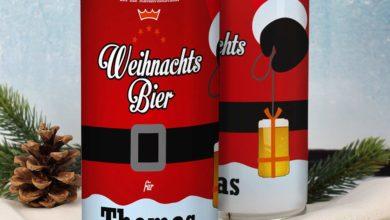 Dose Santa Weihnachtsbier mit Wunschnamen
