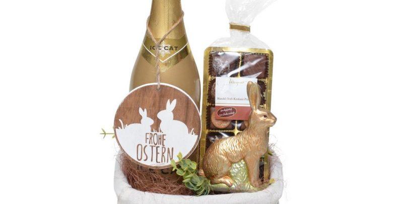 Osterkorb Goldene Ostern