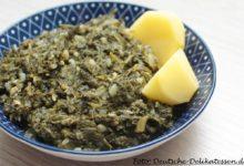 Grünkohl als Beilage zu Kartoffeln