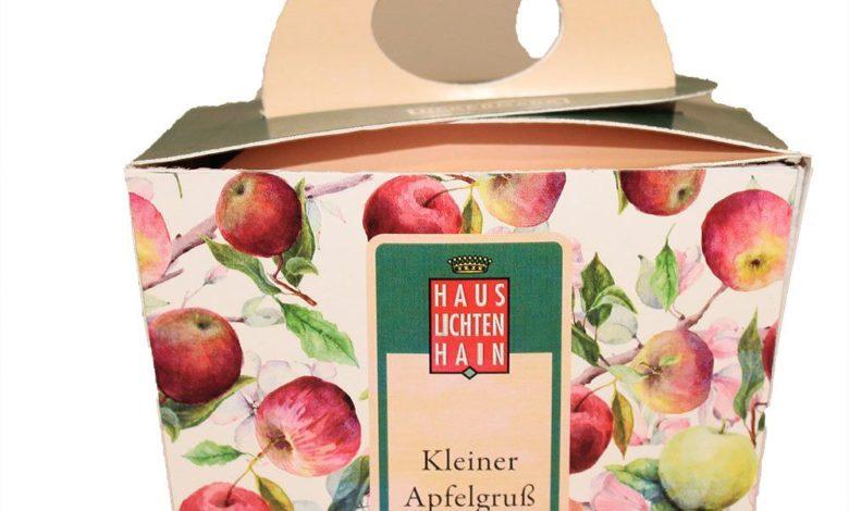 Geschenk mit Apfelprodukten