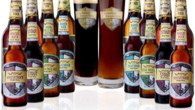 Bier Probierset aus Sachsen mit Gläsern